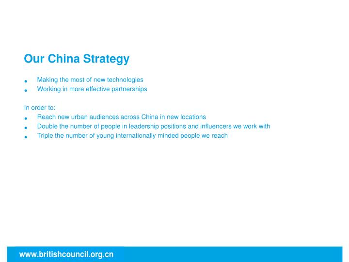 Our China Strategy