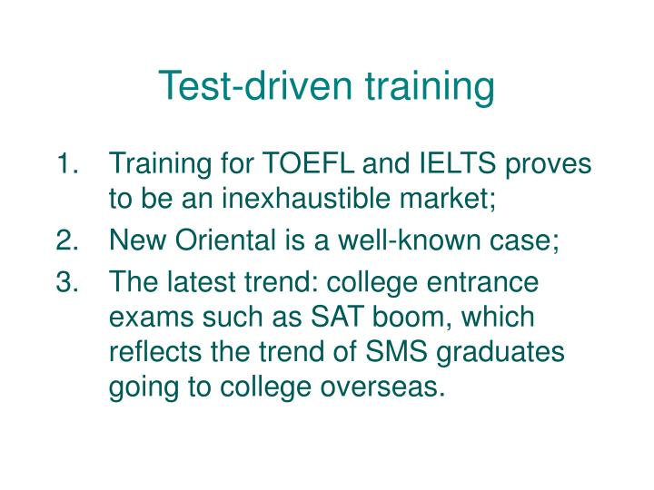 Test-driven training