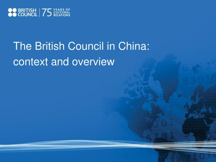 The British Council in China: