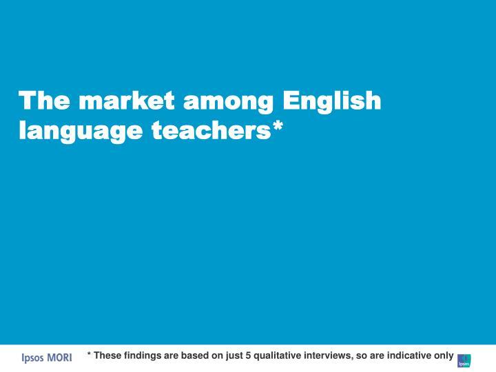 The market among English language teachers*