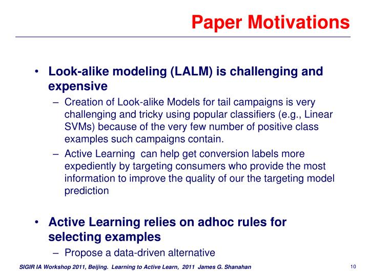 Paper Motivations