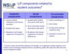 llp components related to student outcomes