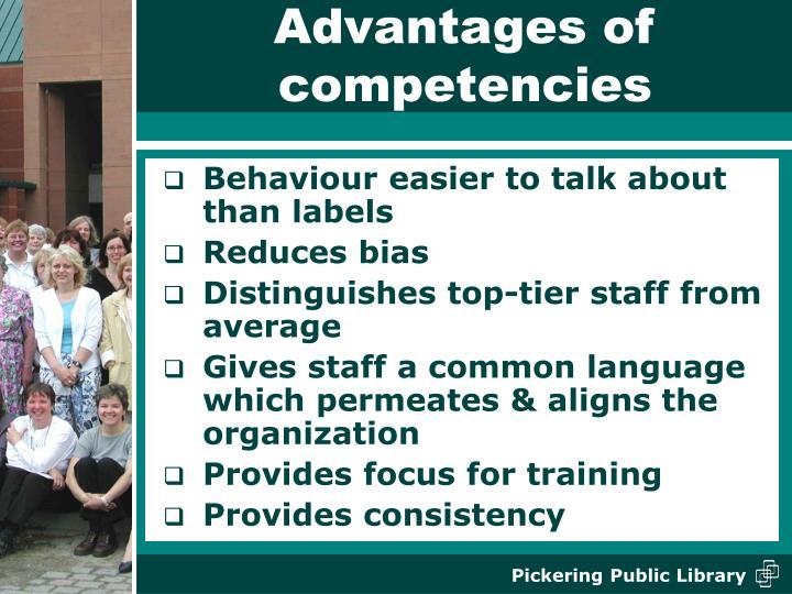 Advantages of competencies
