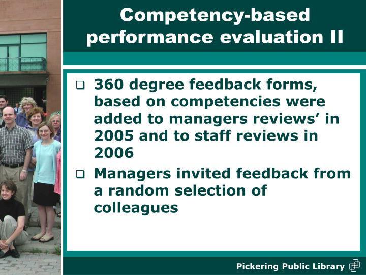 Competency-based performance evaluation II
