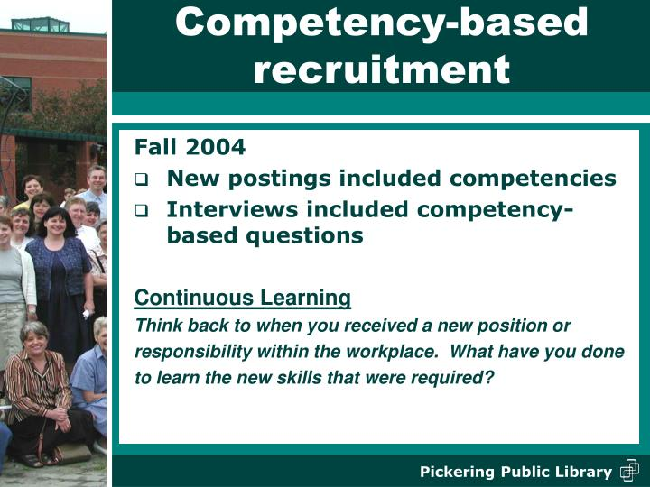 Competency-based recruitment