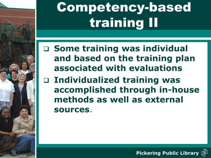 Competency-based training II