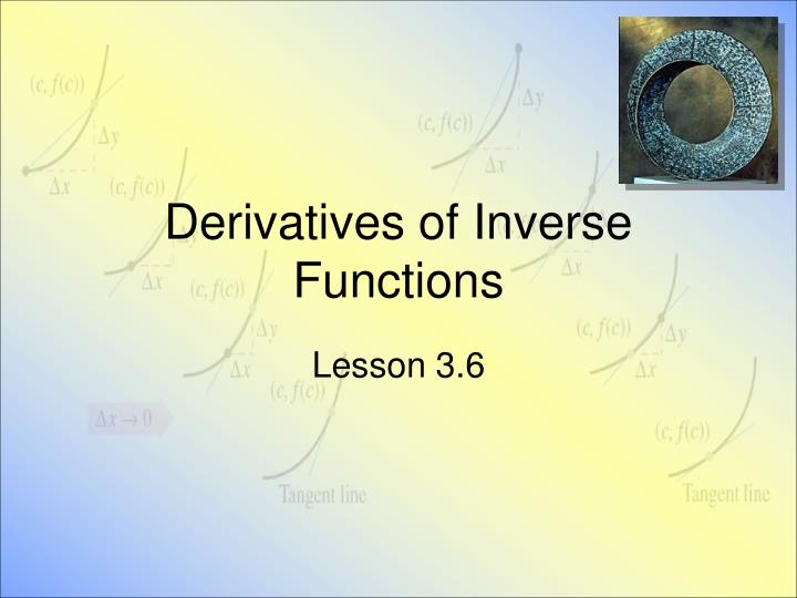 derivatives of inverse functions n.