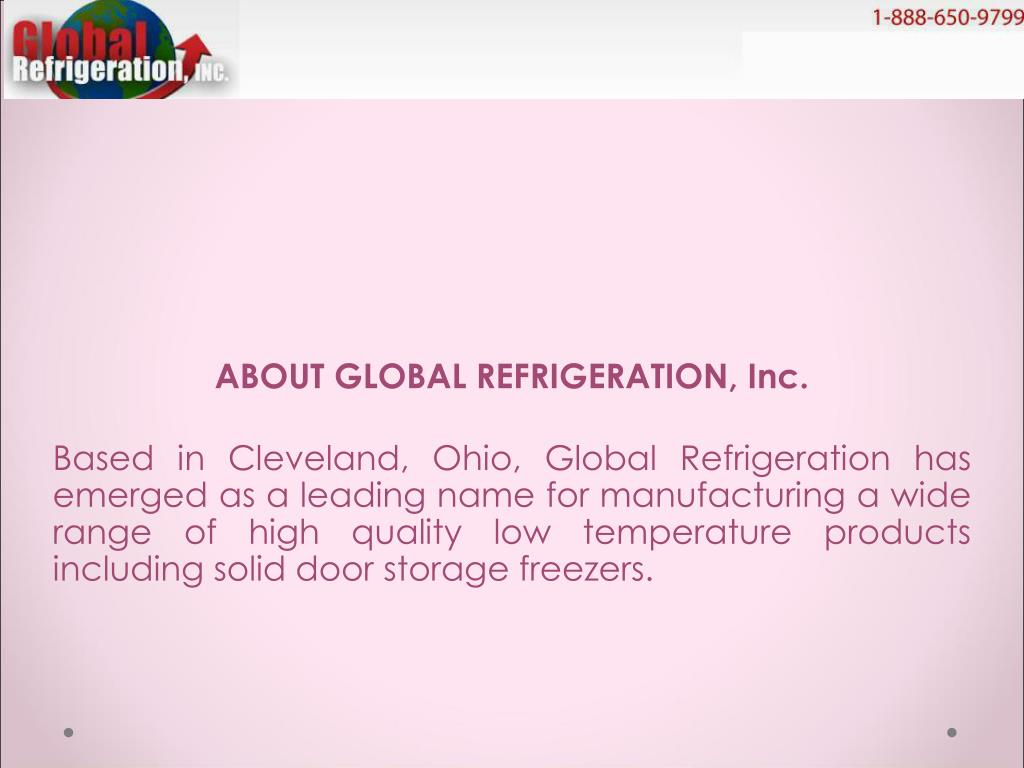 ABOUT GLOBAL REFRIGERATION, Inc.