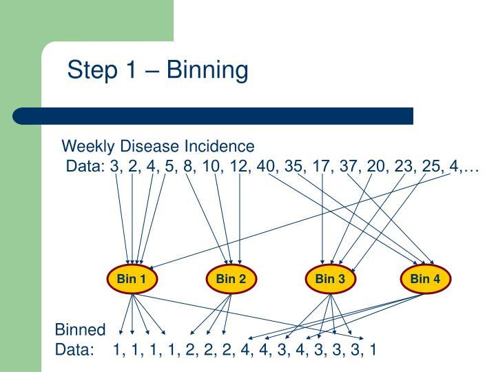 Step 1 – Binning