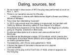 dating sources text
