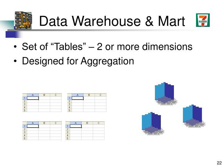 Data Warehouse & Mart