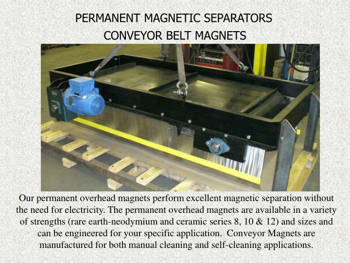 PERMANENT MAGNETIC SEPARATORS