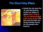 the most holy place1