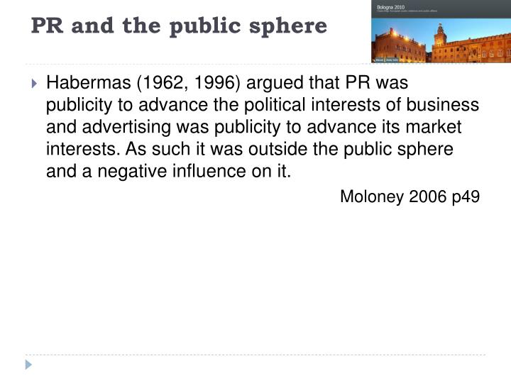 PR and the public sphere