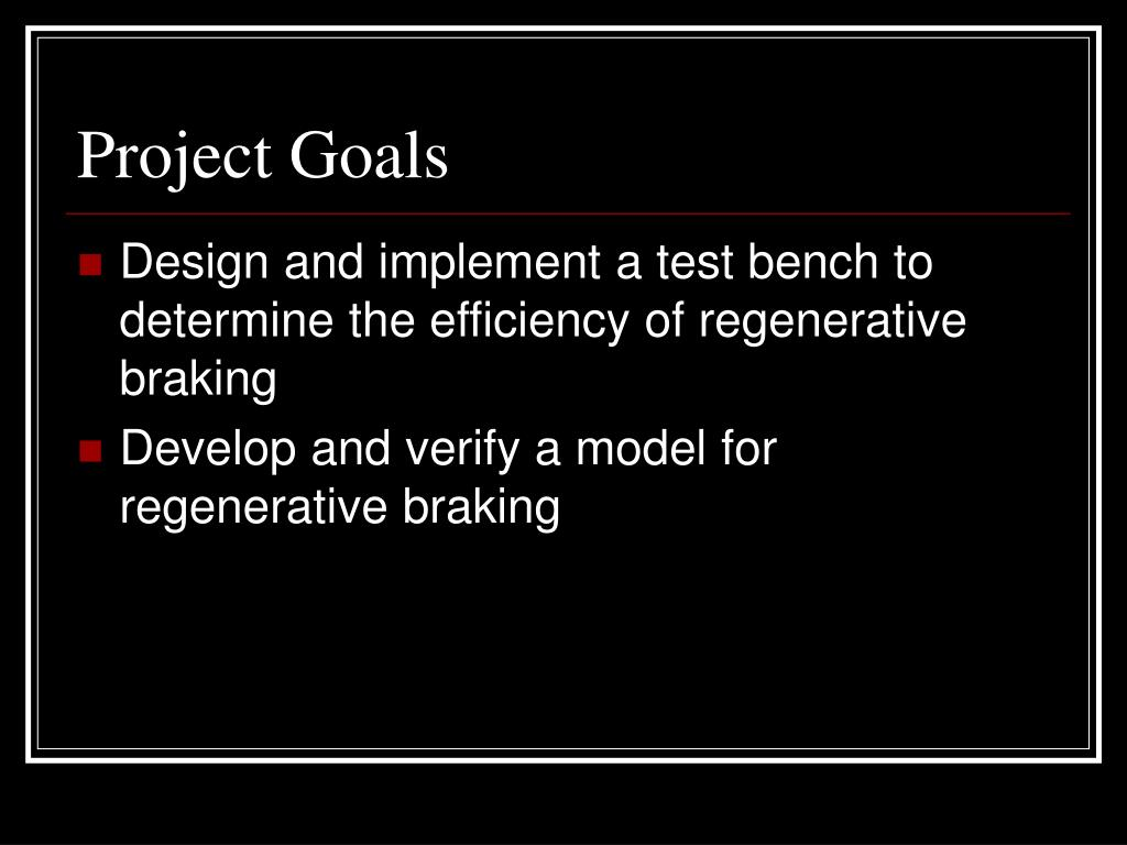 PPT - Electric Motor Control with Regenerative Braking PowerPoint