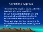 conditional approval