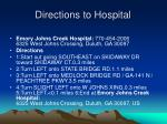 directions to hospital