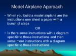 model airplane approach
