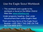 use the eagle scout workbook