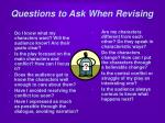 questions to ask when revising