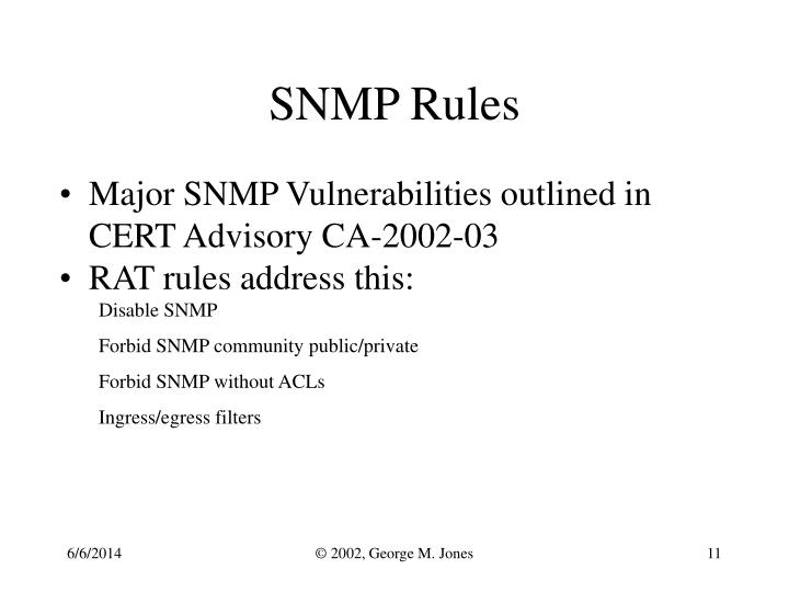 SNMP Rules