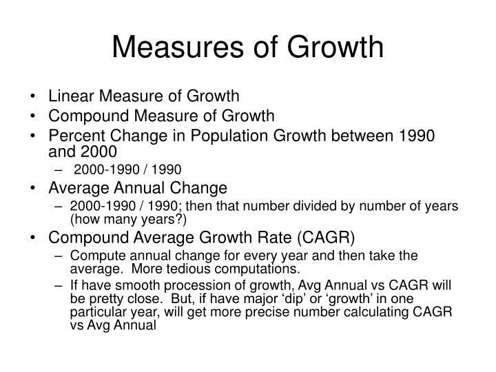 Measures of Growth