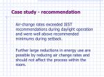 case study recommendation