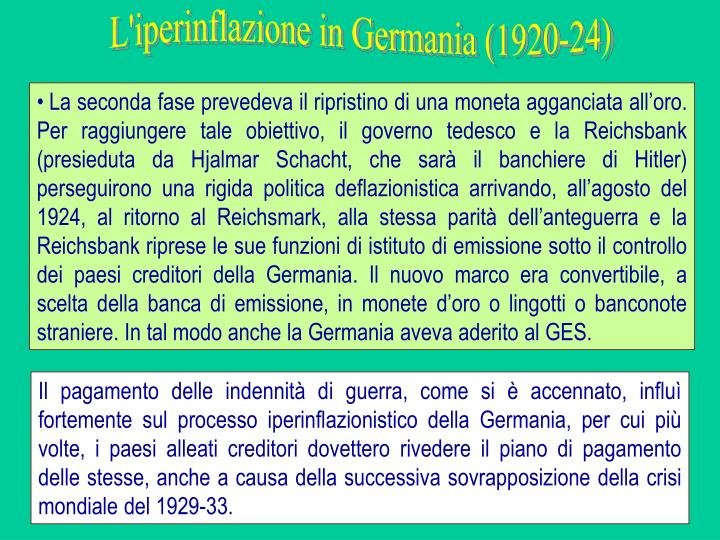 L'iperinflazione in Germania (1920-24)