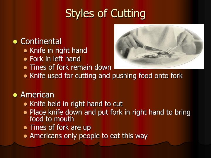 Styles of Cutting