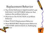 replacement behavior