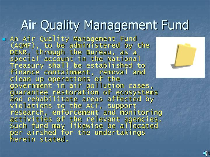 Air Quality Management Fund