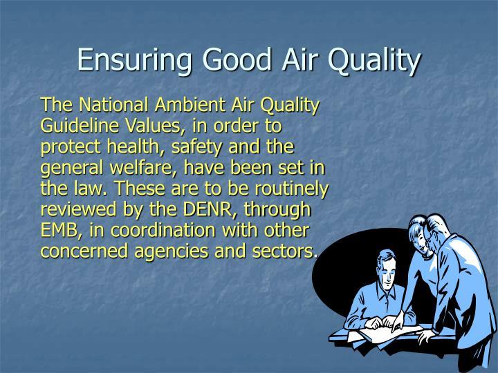 Ensuring Good Air Quality