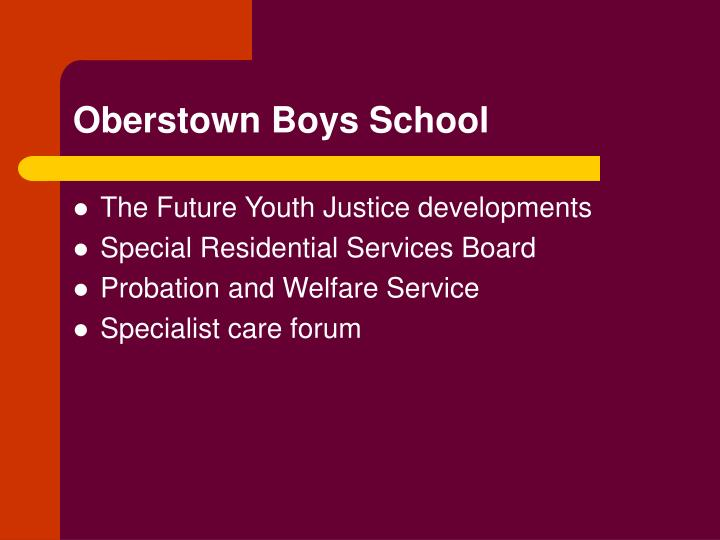 Oberstown Boys School