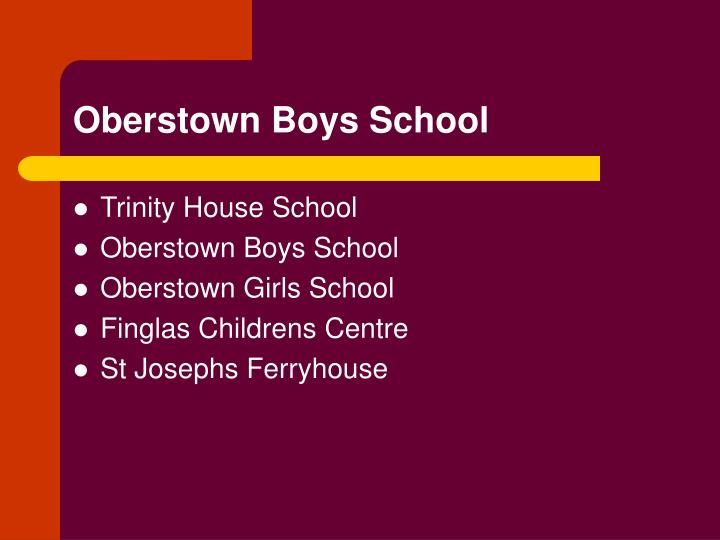 Oberstown boys school2