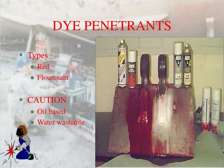 DYE PENETRANTS