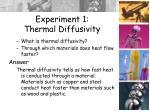 experiment 1 thermal diffusivity