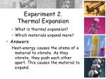 experiment 2 thermal expansion