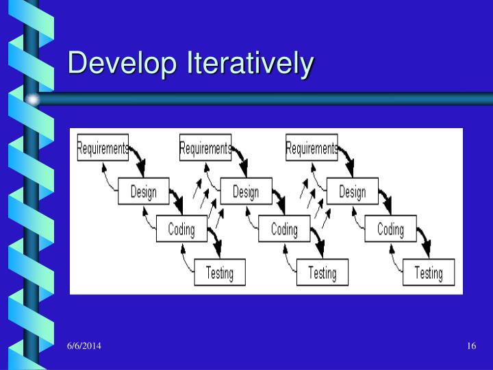 Develop Iteratively