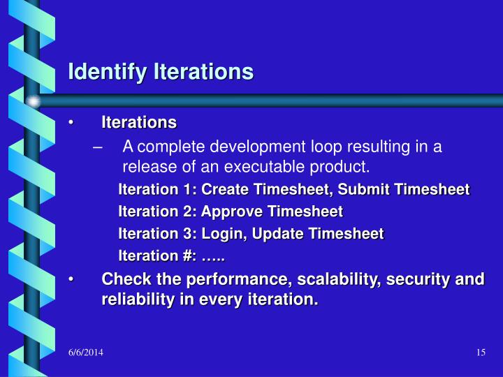 Identify Iterations