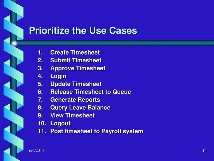 Prioritize the Use Cases