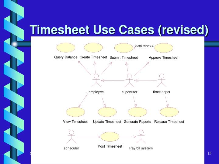 Timesheet Use Cases (revised)