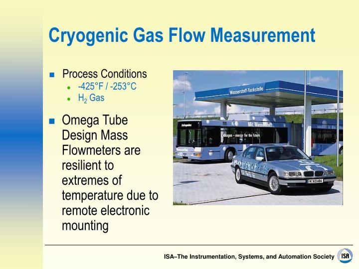 Cryogenic Gas Flow Measurement