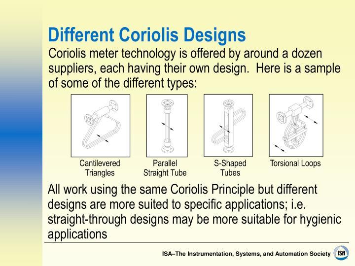 Different Coriolis Designs