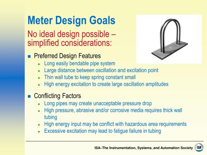 Meter Design Goals