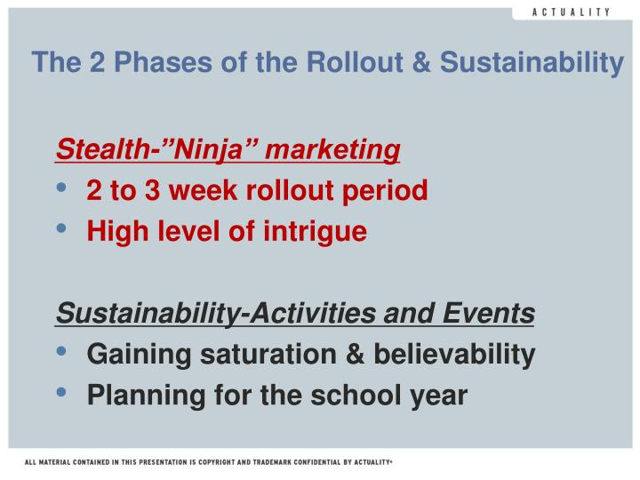 The 2 Phases of the Rollout & Sustainability