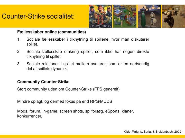 Counter-Strike socialitet: