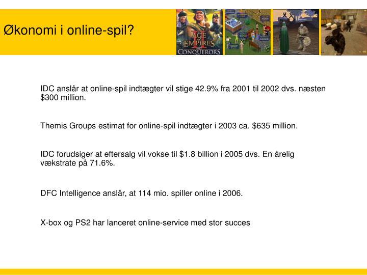 Økonomi i online-spil?