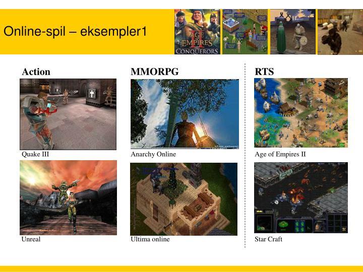 Online-spil – eksempler1