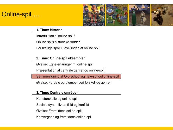 Online-spil….