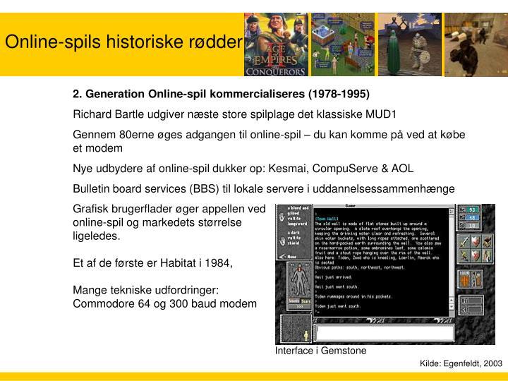 Online-spils historiske rødder